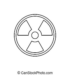 Radioactive sign icon, outline style