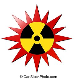 Radioactive sign (With Red Explosio