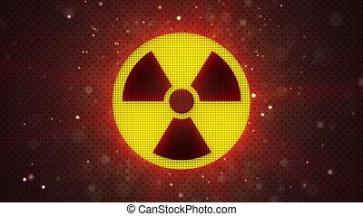 radioactive symbol loopable - radioactive symbol. computer...
