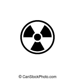 Radioactive Warning, Radiation Flat Vector Icon -...