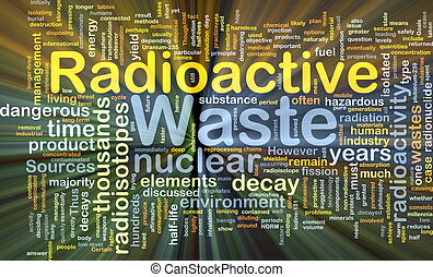 Radioactive waste background concept glowing - Background...