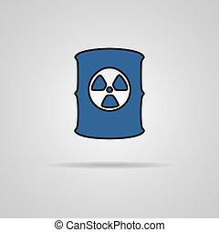 Radioactive waste barrel.