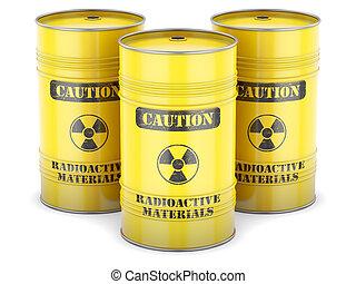 Radioactive waste barrels