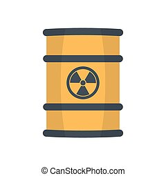 Radioactive waste in barrel. - Radioactive waste in barrel, ...