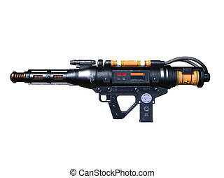 Radioactivity gun - 3D CG rendering of a radioactivity gun.