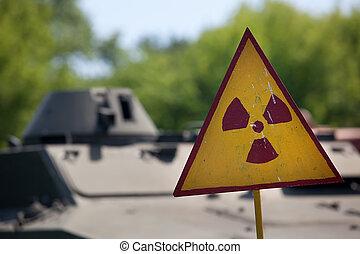 radioactivity, símbolo advertindo