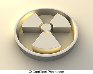 Radioactivity Symbol - Radioactivity symbol with yellow...