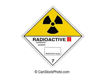 Radioactivity - Warning sign for radioactive materials