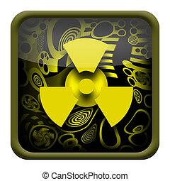 radioactivo, botón