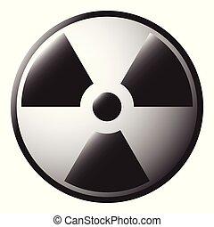 radioactivo, icono
