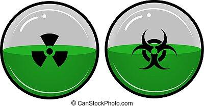 radioactivo, material