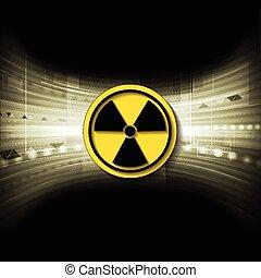 radioactivo, símbolo, tecnología, Plano de fondo