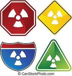 radioaktív, figyelmeztetés