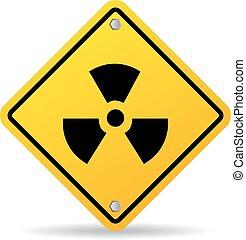 radioaktív, veszély cégtábla
