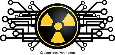 radioativo, ícone