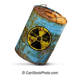 radioativo, poluição, conceito
