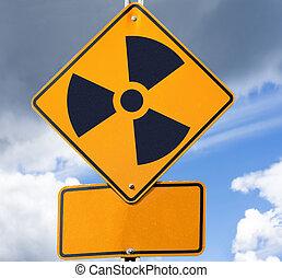 radioattivo, segno strada