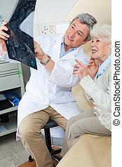 radiolog, förklarande, tålmodig, röntga