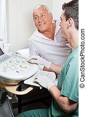 radiologic, technologist, con, paziente