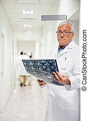 radiologue, mri, tenue, rayon x