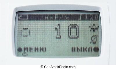 Radiometric instrument panel shows level of radioactivity -...