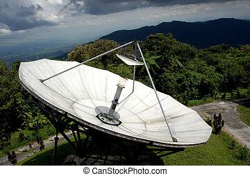 Radiotelescopes at the Mountain.