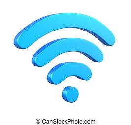 radiowy, sieć, symbol
