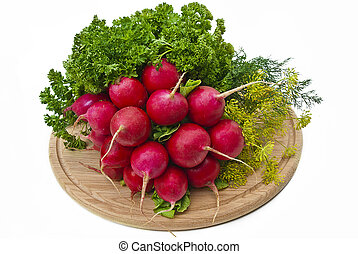 Radish and other vegetables