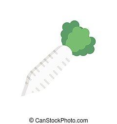 radish  flat color icon