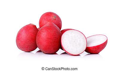 radish isolated on a white background