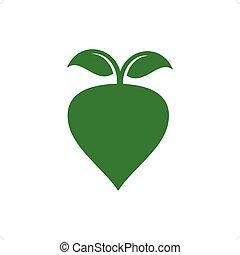 Radish - Green radish slhouette vector illustration isolated...