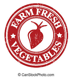 Radish vegetable stamp or label - Radish vegetable grunge...