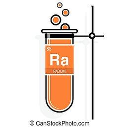 Magnesium symbol on label in a orange test tube with holder eps radium symbol on label in a orange test tube with holder element number 88 of urtaz Choice Image