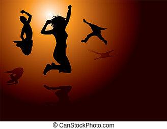 radość, skok