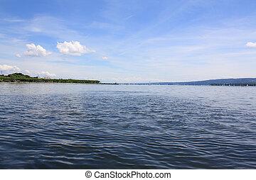 Radolfzell Bodensee - Radolfzell vom Bodensee aus