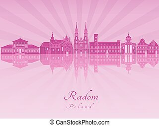 Radom skyline in purple radiant orchid