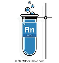 Krypton symbol on label in a blue test tube with holder clipart radon symbol on label in a blue test tube with holder element number 86 of urtaz Choice Image
