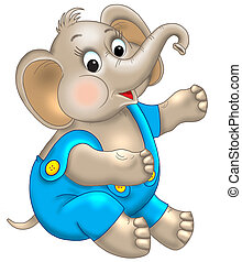 radosny, elephan