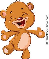 radosny, niedźwiedź, teddy