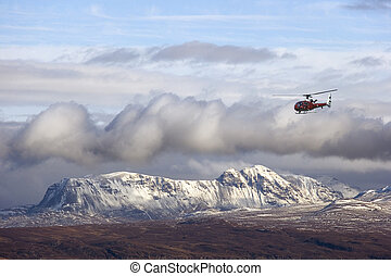 RAF Helicopter - Scottish Highlands - Scotland - RAF...