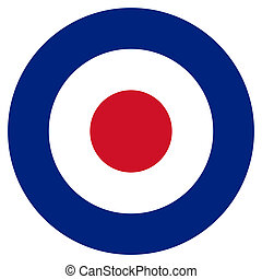 RAF Roundel - RAF roundel or mod target sign, isolated on...