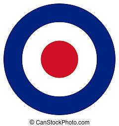 RAF Roundel - RAF roundel or mod target sign, isolated on...