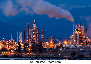raffinaderi, olja