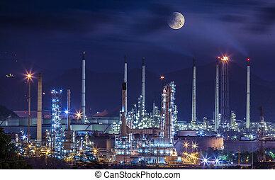 raffinaderi, plante, industriel