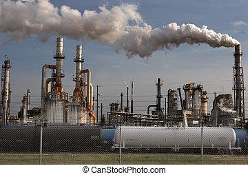 raffinaderij, olie