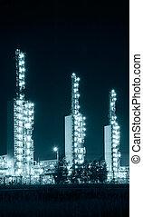 raffineria, grangemouth, notte
