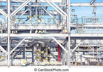 raffineria, pianta, fabbrica