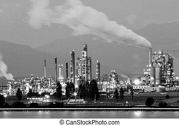 raffinerie, américain