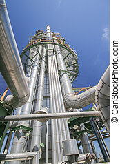 raffinerie chimique, tour