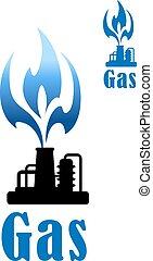 raffinerie, exploitation minière, essence, industrie